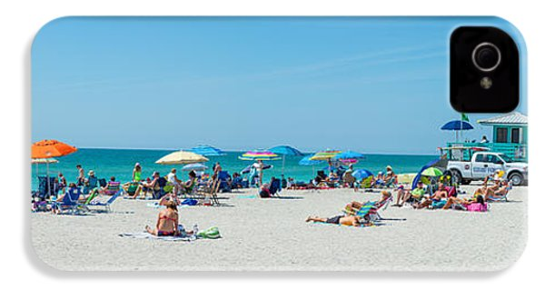 People On The Beach, Venice Beach, Gulf IPhone 4 Case by Panoramic Images