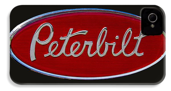 Peterbilt Semi Truck Logo Emblem IPhone 4 Case