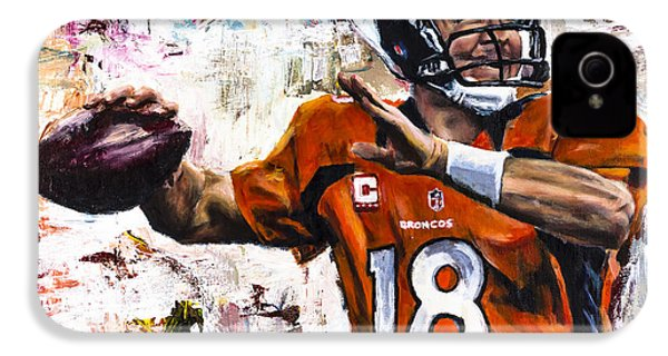 Peyton Manning IPhone 4 Case by Mark Courage