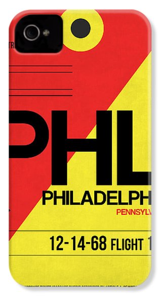 Philadelphia Luggage Poster 2 IPhone 4 / 4s Case by Naxart Studio