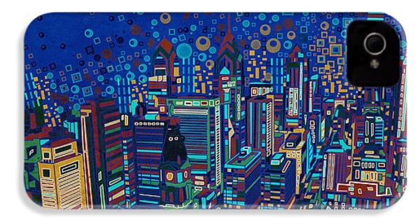 Philadelphia Panorama Pop Art 2 IPhone 4 Case