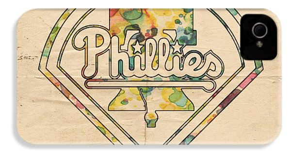 Philadelphia Phillies Poster Vintage IPhone 4 Case