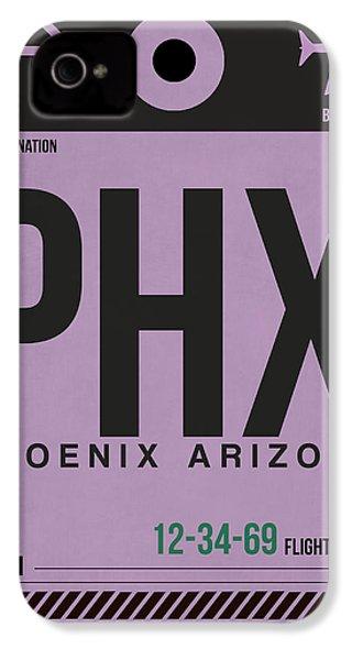 Phoenix Airport Poster 1 IPhone 4 / 4s Case by Naxart Studio