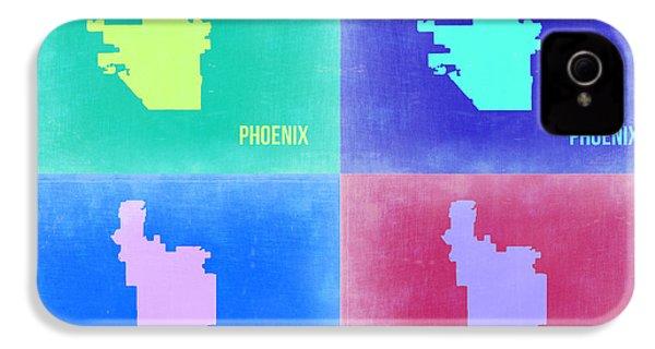 Phoenix Pop Art Map 1 IPhone 4 / 4s Case by Naxart Studio