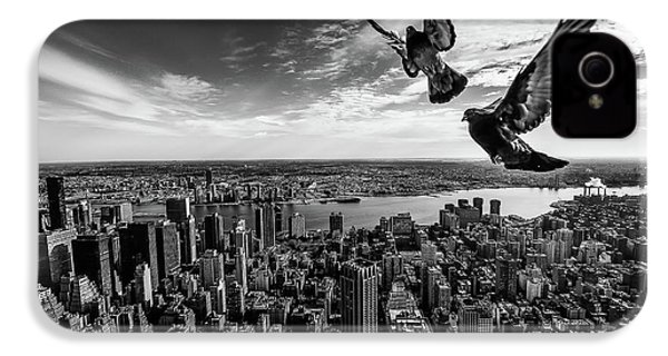 Pigeons On The Empire State Building IPhone 4 Case
