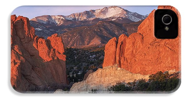 Pikes Peak Sunrise IPhone 4 Case by Aaron Spong