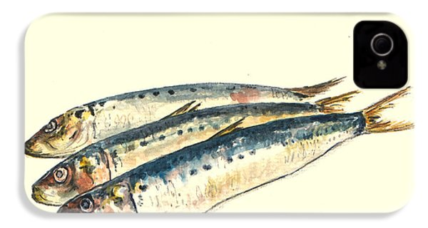 Pilchards IPhone 4 Case by Juan  Bosco