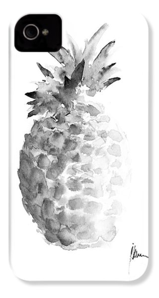 Pineapple Painting Watercolor Art Print IPhone 4 / 4s Case by Joanna Szmerdt