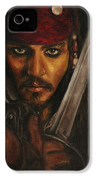 Pirates- Captain Jack Sparrow IPhone 4 / 4s Case by Lina Zolotushko
