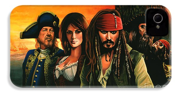 Pirates Of The Caribbean  IPhone 4 Case by Paul Meijering