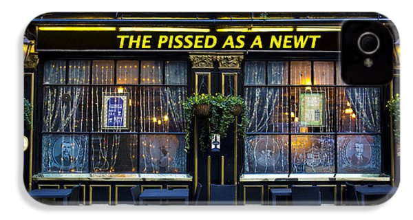 Pissed As A Newt Pub  IPhone 4 / 4s Case by David Pyatt