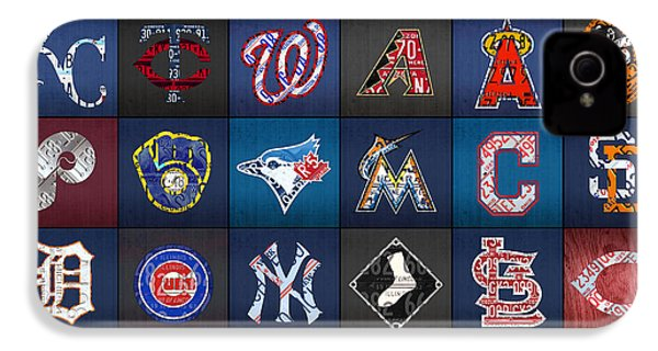 Play Ball Recycled Vintage Baseball Team Logo License Plate Art IPhone 4 / 4s Case by Design Turnpike