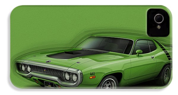 Plymouth Roadrunner 1972 IPhone 4 / 4s Case by Etienne Carignan