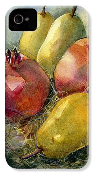 Pomegranates And Pears IPhone 4 Case by Jen Norton
