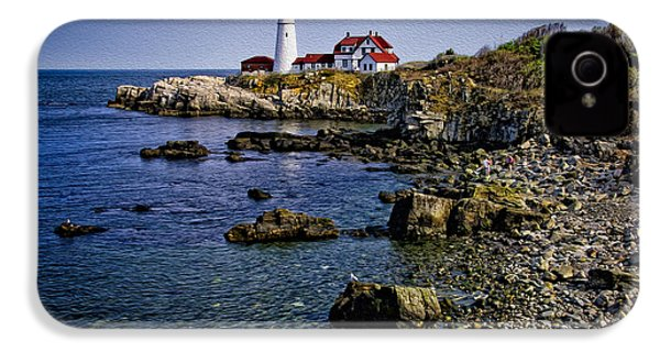 Portland Headlight 37 Oil IPhone 4 Case by Mark Myhaver
