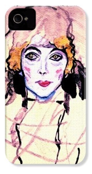 Portrait Of A Lady En Face After Gustav Klimt IPhone 4 Case
