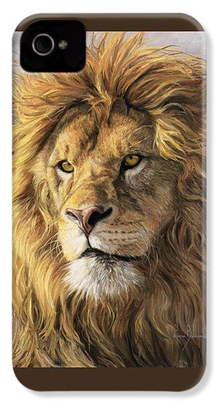 Portrait Of A Lion IPhone 4 Case by Lucie Bilodeau