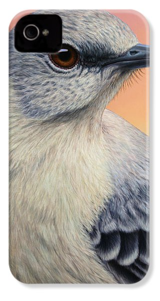Portrait Of A Mockingbird IPhone 4 Case by James W Johnson