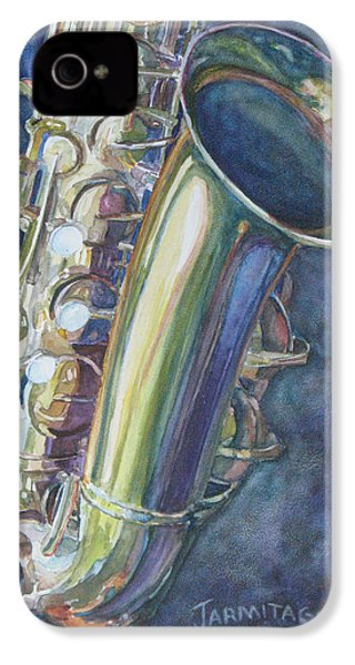 Portrait Of A Sax IPhone 4 / 4s Case by Jenny Armitage