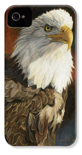 Portrait Of An Eagle IPhone 4 / 4s Case by Lucie Bilodeau