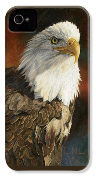 Portrait Of An Eagle IPhone 4 Case by Lucie Bilodeau
