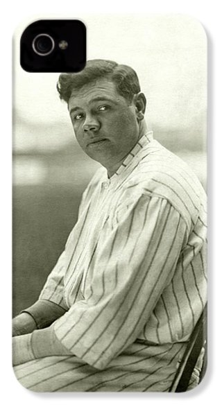 Portrait Of Babe Ruth IPhone 4 Case by Nicholas Muray