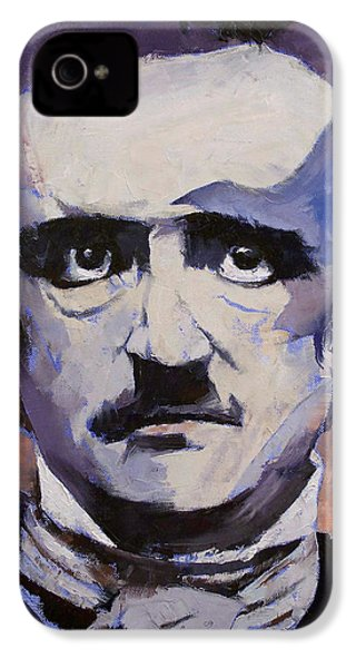 Edgar Allan Poe IPhone 4 Case by Michael Creese