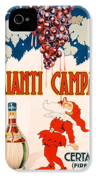 Poster Advertising Chianti Campani IPhone 4 / 4s Case by Necchi