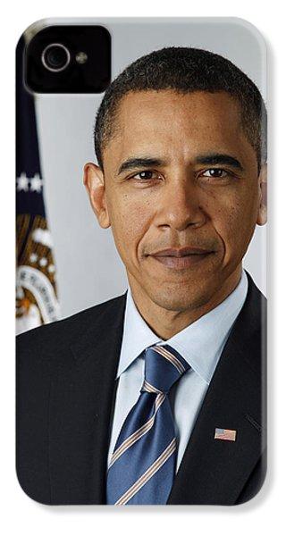 President Barack Obama IPhone 4 Case by Pete Souza