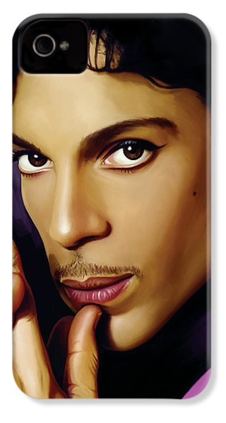 Prince Artwork IPhone 4 Case by Sheraz A