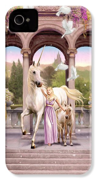 Princess Of The Unicorns Variant 1 IPhone 4 Case by Garry Walton