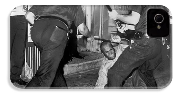 Protester Clubbed In Harlem IPhone 4 Case by Underwood Archives