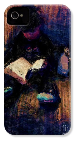 Quiet Time IPhone 4 Case by Claire Bull