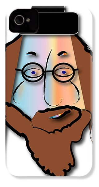 IPhone 4 Case featuring the digital art Rabbi David by Marvin Blaine