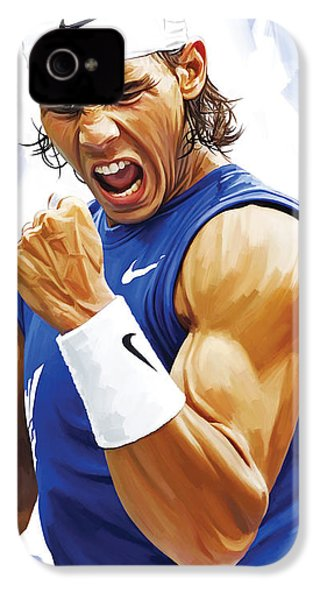 Rafael Nadal Artwork IPhone 4 / 4s Case by Sheraz A