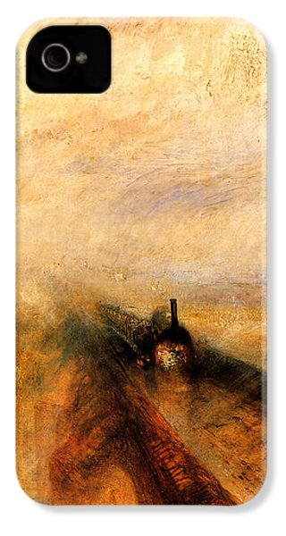 Rain Steam And Speed.  IPhone 4 Case by J M W Turner