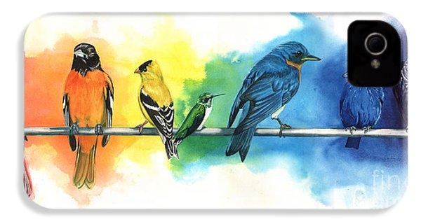Rainbow Birds IPhone 4 Case by Antony Galbraith