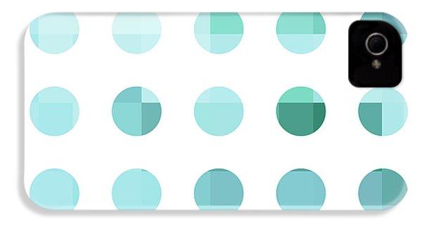 Rainbow Dots Aqua  IPhone 4 Case by Pixel Chimp