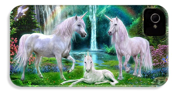 Rainbow Unicorn Family IPhone 4 Case