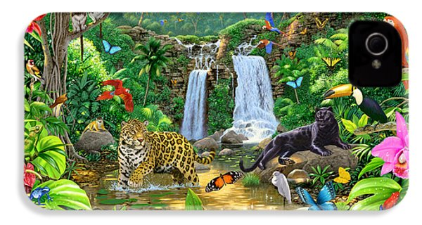 Rainforest Harmony Variant 1 IPhone 4 Case by Chris Heitt