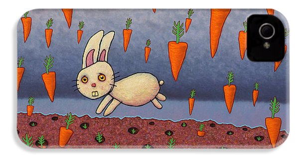 Raining Carrots IPhone 4 / 4s Case by James W Johnson