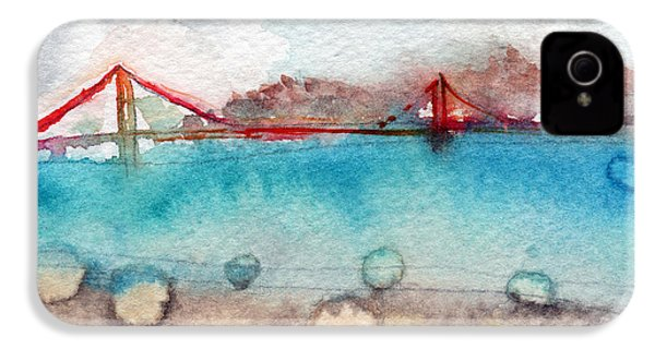 Rainy Day In San Francisco  IPhone 4 Case by Linda Woods