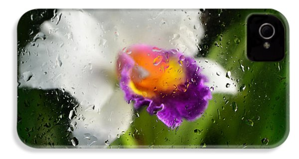 Rainy Day Orchid - Botanical Art By Sharon Cummings IPhone 4 / 4s Case by Sharon Cummings