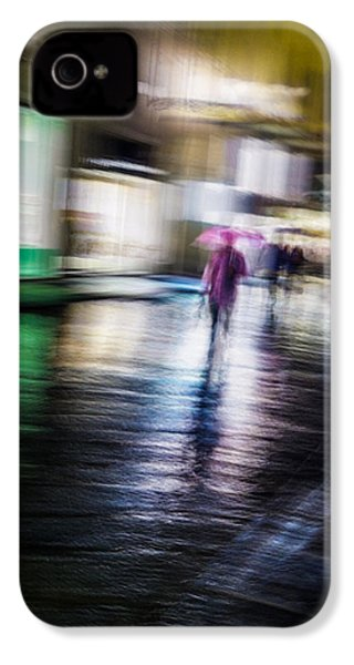 IPhone 4 Case featuring the photograph Rainy Streets by Alex Lapidus