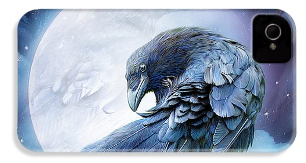 Raven Moon IPhone 4 Case by Carol Cavalaris