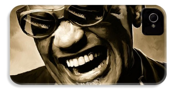 Ray Charles - Portrait IPhone 4 Case by Paul Tagliamonte