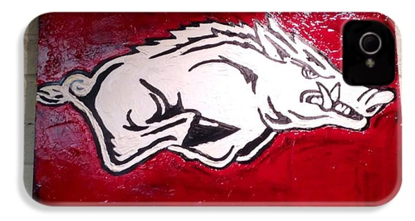 Razorback Painting Art IPhone 4 Case by Dawn Bearden