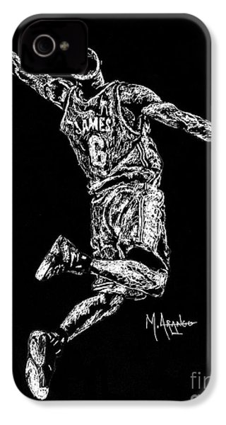 Reaching For Greatness #6 IPhone 4 Case by Maria Arango