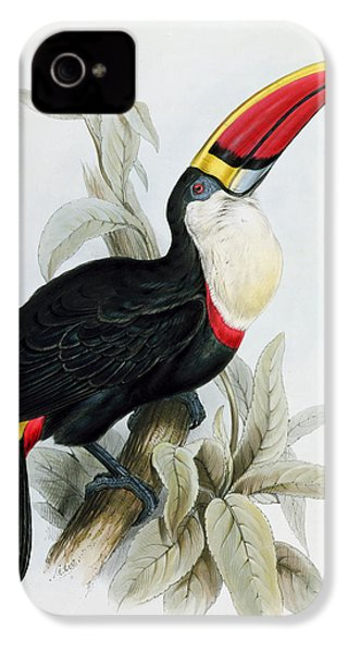 Red-billed Toucan IPhone 4 Case by Edward Lear