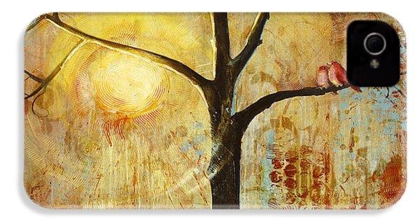 Red Birds Tree Version 2 IPhone 4 Case by Blenda Studio